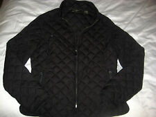 EDDIE BAUER 100% GOOSE DOWN ULTRA LIGHT QUILT STITCH BLACK JACKET SHIRT-LNWOT-S
