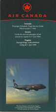 Air Canada system timetable 6/1/96 [5012] Buy 2 Get 1 Free
