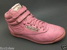 Reebok Vntage 80s Prism Pink  freestyle Hi-Top Sneakers Size.6 Usa. 4Uk.