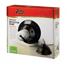 Zilla Reptile Terrarium Heat Lamps & Habitat Lighting Dome, Blk 8.5in
