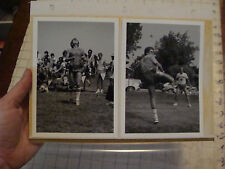 VINTAGE hacky sack paper: 3 vintage original photos of RICK KAUFMAN & other