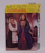 McCalls Sewing Pattern 2243 Size 18W -  22W Renaissance Plus Size Dress Costume