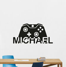 Personalized Name Video Gaming Wall Decal Vinyl Sticker Boy Gamer Poster 107quo