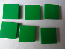 LEGO PART 3068A GREEN  2 x 2 SMOOTH TILE x 6
