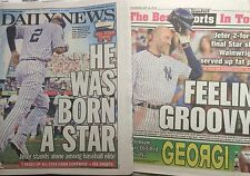 YANKEES DEREK JETER FINAL 2014 ALL STAR GAME NEW YORK POST & DAILY NEWSPAPERS
