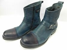 G-Star Raw Mens Boots Blue Leather Zip Fastener Size UK 10 / EUR 44