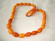Old Genuine natural Baltic Amber Bead necklace -Lovely Butterscotch Colour -25g!