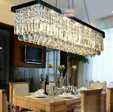 Modern Contemporary Crystal Pendant Light Ceiling Lamp Chandelier Lighting 120cm