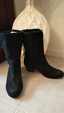 "TONY BIANCO SZ 6.5 'Chestnut"" Black Suede Boots RRP $ 189.95 Buy Any 3=Free Post"