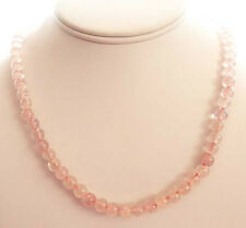 Necklace Of Rose Quartz Beads  18 Inches long