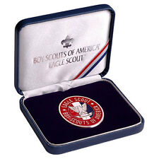 Eagle Scout Challenge Coin in Presentation Box Boy Scouts of America BSA Gift