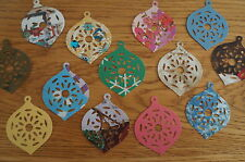 25 Christmas Bauble Cut Outs. Various Colours/Patterns. Paper & Card
