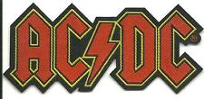 AC/DC logo cut out 2015 - shaped WOVEN SEW ON PATCH - official merchandise ANGUS