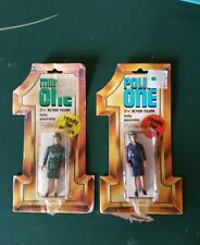Vintage Army Military One Police One MoC Lot 2 Porto Play MASH Size Figures 1982