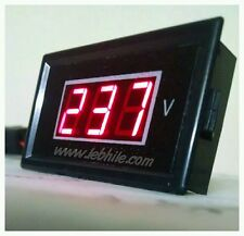 E22 Big Size Digital Voltmeter AC 60V-500V Red LED Panel Meter 220V Voltage