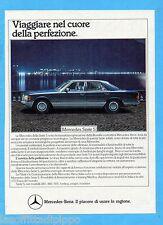 QUATTROR984-PUBBLICITA'/ADVERTISING-1984- MERCEDES SERIE S