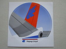 AUTOCOLLANT STICKER AUFKLEBER HAPAG-LLOYD AIRLINE AIRLINER TAIL
