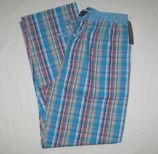 Ralph Lauren Polo Mens Pajama Bottoms Lounge Pants Turquoise Pony Small NWT