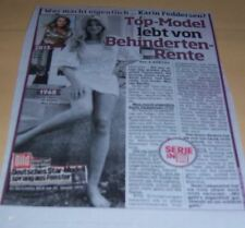 Karin Feddersen - Model Bericht CLIPPINGS Sammlung Presse #210