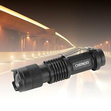 Mini CREE Q5 7W 3500Lm LED Flashlight Torch Lamp Adjustable Focus Zoom Light MT