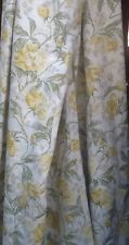 Pr Vintage Yellow Floral Laura Ashley Curtains 164cms Drop 224cms Combined Width
