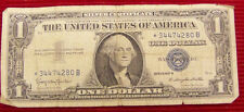 1957 B $1 Silver Certificate Star Note -# * 34474280 B - Good