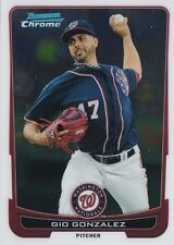 WASHINGTON NATIONALS GIO GONZALEZ 2012 BOWMAN CHROME #61