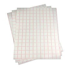 """5 sheets-12""""x15"""" Transfer Paper (lined)l w/Red Grid-Adhesive Vinyl-Craft Cutter"""