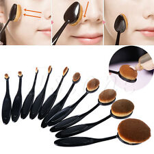 10Pcs Oval Cream Puff Cosmetic Toothbrush Shaped Power Makeup Foundation Brushes