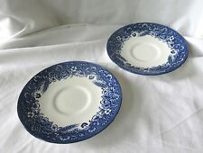 Set of 2 Vintage Churchill Blue & White Ceramic Dishes Plates England