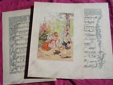 1860 ENFANTINA / CHANSON DES JOUJOUX Les petis jardiniers + partition & chanson