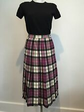 EUC VTG PENDLETON Tartan Plaid Pleated Skirt Virgin Wool Sz 10 / 6 Made In USA