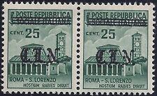 C.L.N. TORINO 1943 - 25 Cent. COPPIA VARIETA' LUSSO n.6+6c Cert. FERRARIO € 230+