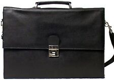Genuine Cowhide Leather Executive Legal / Portfolio Bag BLACK # 9501