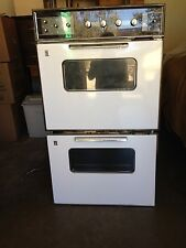 Vintage Early 1960's GE Wall-mounted Double Electric Oven, Model JC28