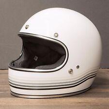 Medium Biltwell Gringo LE Spectrum White Retro full face Helmet NEW open box