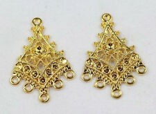 20pcs Gold-plated 1 to 5 earring connectors 32.5mm