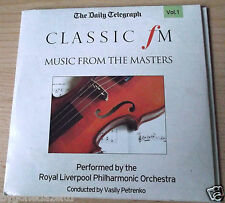CLASSIC FM MUSIC FROM THE MASTERS VOL.1 & 2 TELEGRAPH PROMO CDS(FREE UK POST)