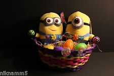 Creative Easter Minions DESPICABLE ME Gift Basket Minion Plush & PVC Easter Eggs