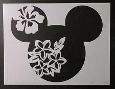 """Spring Flower Mickey Mouse 11"""" x 8.5"""" Custom Stencil FAST FREE SHIPPING"""