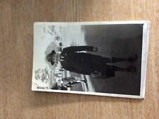 g9b postcard old unused photograph boy with suitcase minor creasing