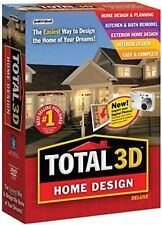 TOTAL 3D HOME DESIGN DELUXE 11 PC Software-------brand new