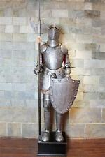 Medieval Knight Crusader in Suit of Armor 6.5'H with battleax and shield