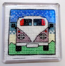 Campervan Fridge Magnet - Cross Stitch Kit  - Emma Louise Art Stitch