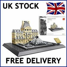 THE LOUVRE OF PARIS CREATOR ARCHITECT BUILDING BLOCKS BRICKS 785 PCS COMPATIBLE