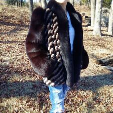 Real Mink With  Fox Fur collar Stroller Size 6-8