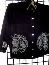 XL 18/20 TERAZZO WOMEN'S EQUESTRIAN WESTERN RODEO HORSE ART DESIGN SWEATER