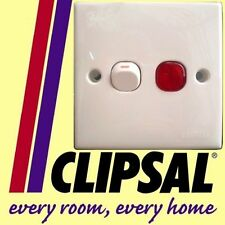 Clipsal Double Pole Switch NEON LIGHT 250V 20A WHITE ac
