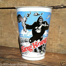 10 Original KING KONG MOVIE THEATER Concession Stand Plastic Gulp CUPS 1976