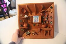 3D MARY CHRISTIAN BABY JESUS WOOD PICTURE SHADOW BOX FRAME HANDMADE/PAINTED